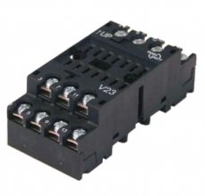 V23 socket - Screw terminal, wall/rail mount